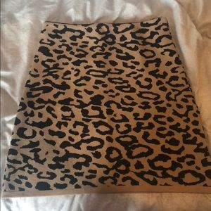 Chicwish Leopard Skirt- Small/Medium